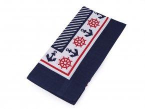 Bavlněný šátek s kotvami 55x55 cm