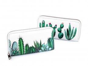 Dámská peněženka kaktusy 10x19 cm