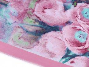 Šátek batikované květy 130x130 cm