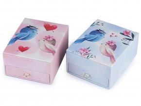 Šperkovnice ptáčci 8,5x14x18 cm