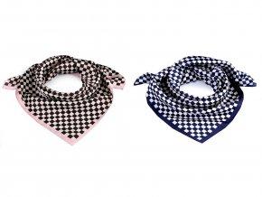 Saténový šátek káro 55x55 cm