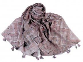Šátek / šála se střapci 90x180 cm