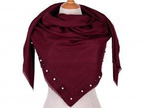 Velký šátek lemovaný perlami 120x120 cm
