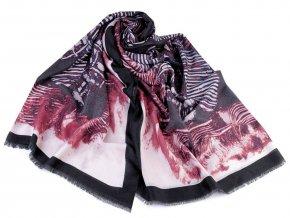 Šátek / šála vzorovaná 90x180 cm