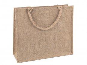 Jutová taška pogumovaná s kapsou 39x44 cm k dozdobení