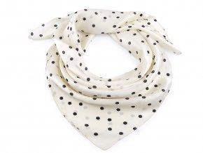 Saténový šátek s puntíky 70x70 cm