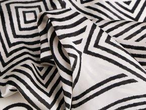 Saténový šátek geometrické tvary 70x70 cm