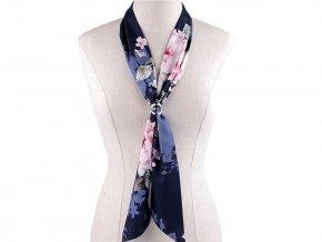 Šátek úzký do vlasů, na krk, na kabelku růže