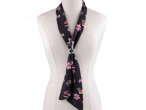 Šátek úzký do vlasů, na krk, na kabelku luční květy