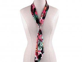 Šátek úzký do vlasů, na krk, na kabelku tropický