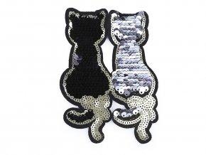 Nažehlovačka kočky s oboustrannými flitry