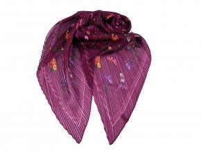 Šátek / šála plisovaná s květy