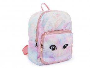 Dívčí kožešinový batoh jednorožec 24x30 cm