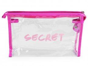 Kosmetická taška průhledná a holografická Secret, sada 2 ks