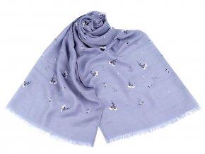 Šátek / šála s drobnými květy 70x180 cm