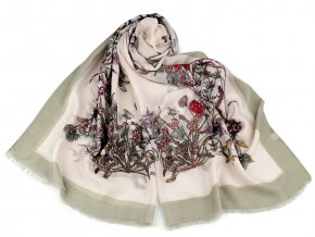 Šátek / šála květy 85x180 cm