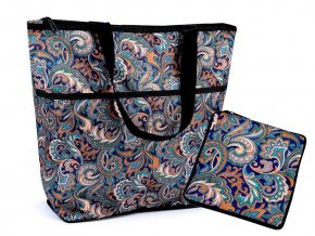 Skládací nákupní taška se zipem pevná 38x44 cm