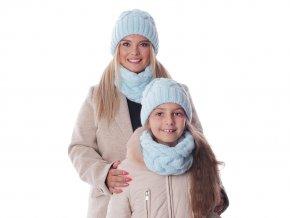 Dámská / dívčí zimní sada čepice a nákrčník