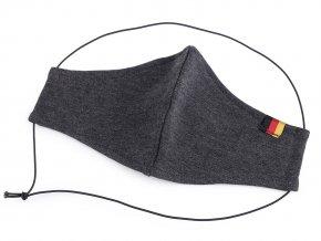 Rouška z pružné teplákoviny s německou trikolorou