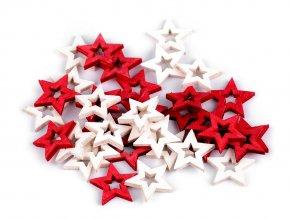 Dřevěná dekorace hvězda, anděl, kometa k nalepení