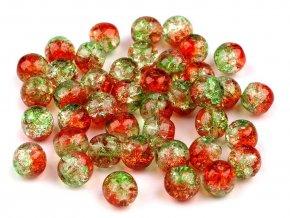 Skleněné korálky praskačky dvoubarevné Ø6 mm