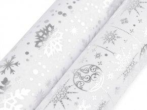 Vánoční dekorační metráž šíře 48 cm