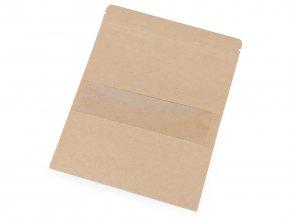 Papírový sáček s průhledem natural, velký