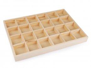 Dřevěné plato / organizér 24x35 cm