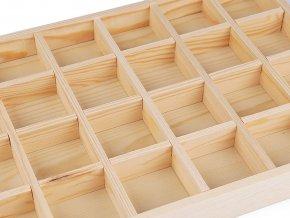 Dřevěné plato na vystavení šperků / korálků 24x35 cm