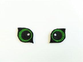 Vyšívané oči na lišku 3 cm zelené