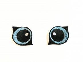 Vyšívané oči na lišku 3 cm světle modré