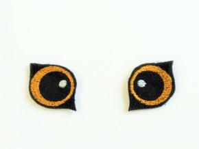 Vyšívané oči na lišku 4 cm oranžové