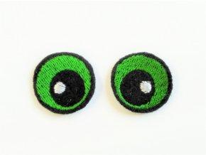 Vyšívané oči oválné 2 cm zelené