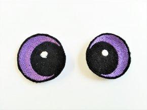 Vyšívané oči vypouklé 3 cm fialové