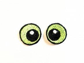 Vyšívané oči oválné 3 cm světle zelené