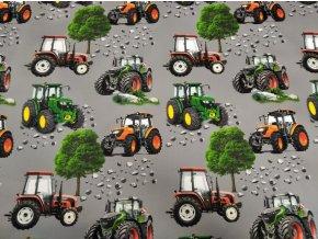 Zimní softshell Traktory na šedé