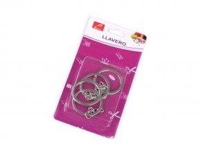 Sada kroužků na klíče Ø30 mm s řetízkem