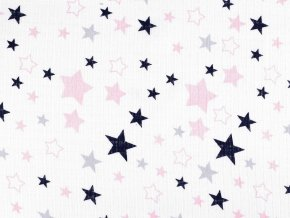 Bavlněná plenkovina / mušelín hvězdy