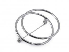 Minimalistická brož kruhy