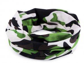 Multifunkční šátek pružný, bezešvý maskáčový