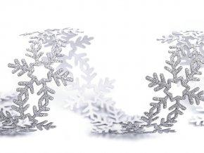 Vánoční samolepicí prýmek vločky šíře 35 mm
