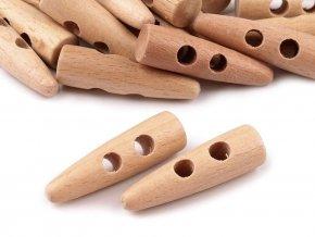 Knoflík dřevěný rohy 40 mm