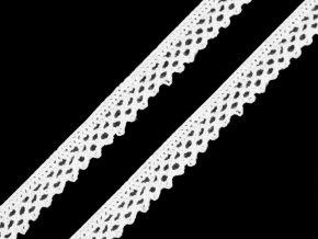 Bavlněná krajka šíře 12 mm paličkovaná