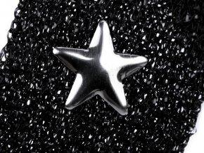 Lampas / prýmek s kovovými hvězdami šíře 20 mm