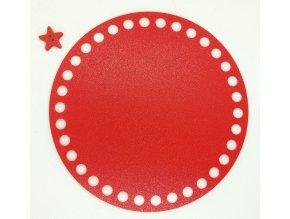 Plastové dno kruh 15cm, červené