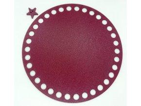 Plastové dno kruh 15cm, vínové