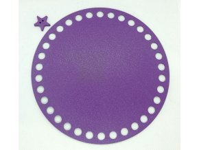 Plastové dno kruh 15cm, fialové