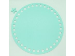 Plastové dno kruh 15cm, mentolové