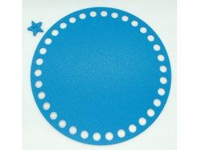 Plastové dno kruh 15cm, modré