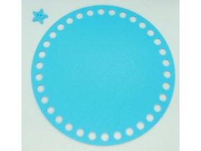 Plastové dno kruh 15cm, světle modré